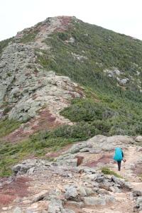 Sara making her way along the ridge