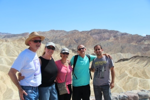 Family Photo at Zambriskie Point, Death Valley