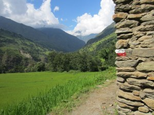Making out way along the Annapurna Circuit Trail