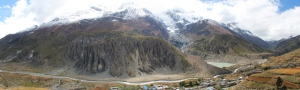 The river flowing between Manang and Gangapurna