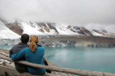 Taking in the views at Tilicho Lake