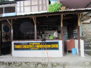 The last ACAP/TIMS checkpoint along the Annapurna Circuit