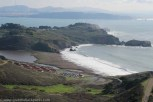 View via Coastal Trail towards Rodeo Beach