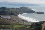 View via Coastal Trail towards Rodeo Beach