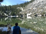 Tzachi and Summit enjoying the view of Little Boulder Lake